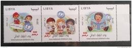 Libya 2016 NEW MNH Set In One Pane - International Children's Day Drawings 3v Strip - Libya