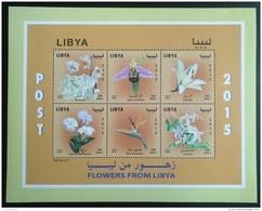Libya 2015 NEW MNH Miniheet - Flowers - Libya