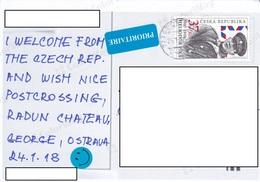 22A: Czech Republic Personality Heliodor Pika Stamp Used On Radun Postcard - Czech Republic