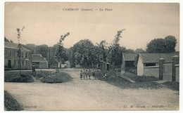 CPA - CAMBRON (Somme) - La Place - France