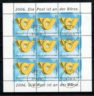 "Österreich 2006: Block  ""Post An Der Börse"" Gestempelt (siehe Scan/Foto) - Blocks & Sheetlets & Panes"