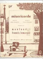 Partition Musicale Ancienne, MISERICORDE ,MOULOUDJI, Francis LEMARQUE ,  Frais Fr 1.75 E - Partitions Musicales Anciennes