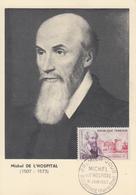 Carte  Maximum   1er   Jour   FRANCE     Michel   DE  L' HOPITAL      AIGUEPERSE   1960 - Cartes-Maximum