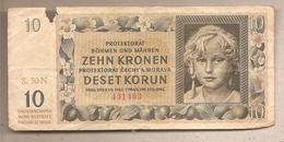 Boemia&Moravia - Banconota Circolata Da 10 Corone P-8a - 1942 - [12] Colonies & Foreign Banks