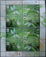 Belarus, 2010, Mi. 824-27, Y&T 707-10, WWF, Insects, Dragonflies, MNH - W.W.F.