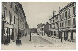 CPA - LUNEVILLE, RUE CARNOT ET LA GARE - Meurthe Et Moselle 54 - Luneville