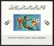LIBIA - 1982 - CAMPIONATO DEL MONDO DI CALCIO IN SPAGNA - ESPANA '82 - SOUVENIR SHEET - MNH - Libya