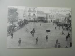 GARD GALLARGUES COURSES DE TAUREAUX SUR LA PLACE DE LA MAIRIE  CARTE 8,7 X 13,4 CM - Gallargues-le-Montueux