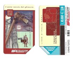 SCHEDA TELEFONICA USATA BILINGUE Linee D'Italia 2001 AA105 -  AV2 - Italien