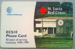 288CSLA St Lucia Red Cross EC$10 - Santa Lucía