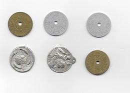 Lot De 6 Jetons Et Autres. Saint Christophe, Quick, Oostende Spaarzaamheid, - Jetons & Médailles