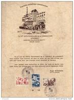 35e Anniversaire De La Libération 19/20 Janvier 1980 Lutterbach  Encart Numéroté - Documents De La Poste