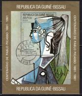 GUINEA BISSAU - 1981 - PABLO PICASSO - CENTENARIO DELLA NASCITA - SOUVENIR SHEET - USATO - Guinea-Bissau