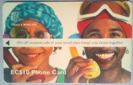 254CSLA Overseas Calls EC$10 - Saint Lucia