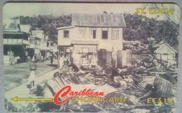 147CSLC Castries Fire EC$10 - Santa Lucía