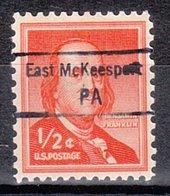 USA Precancel Vorausentwertung Preo, Locals Pennsylvania, East McKeesport 848,5 - Vereinigte Staaten