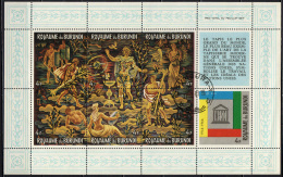 BURUNDI - 1966 - Allegory Of Prosperity And Equality Tapestry By Peter Colfs - 20th Anniv. Of UNESCO - SOUVENIR SHEET - Burundi