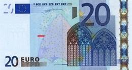 EURO AUSTRIA 20 N F002 DUISENBERG F002 UNC - EURO