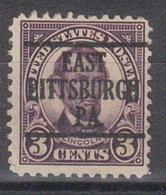 USA Precancel Vorausentwertung Preo, Locals Pennsylvania, East Pittsburgh 555-226 - Vereinigte Staaten
