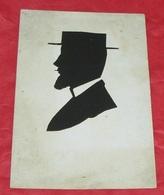 Fantaisies - Portrait D'homme Au Canotier En Découpis - Visage Profil  ---------- 459 - Hommes