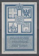 "Vignette NSG ""divisione Militare Messina"" - Erinofilia"