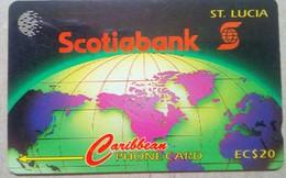16CSLA Scotiabank EC$20 - Santa Lucía