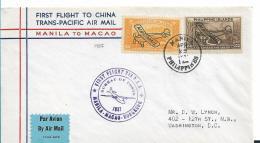 PHI039 / P.A.A. Erstflug (first Flight) Manila Nach Macao 1937 - Philippinen
