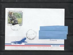 Z3] Enveloppe Cover Niger Renard De Darwin's Fox Carnivore Carnivorous - Stamps