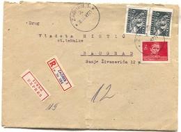 Yugoslavia - Zagreb, Registered Express Cover, 1947. - 1945-1992 Socialist Federal Republic Of Yugoslavia
