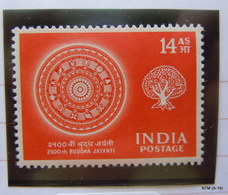 India1956 2500th Birth Aniversary Of Buddha 14 As. StampMH SG 373 - 1950-59 Republiek