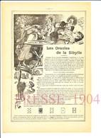 2 Scans 1904 Les Oracles De La Sibylle Cartomancienne Jeu De Cartes Ancien Oracle Divination Voyante Voyance 216CH12 - Vecchi Documenti