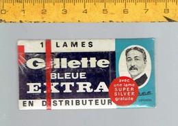 M AN - BOITE DE 10 LAMES DE RASOIR - GILLETTE BLEUE EXTRA - Razor Blades