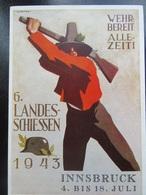 Postkarte Postcard Landesschiessen Innsbrück 1943 - Allemagne