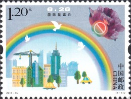CHINA (2017-15)  International Anti-Drug Day. MNH - 1949 - ... People's Republic
