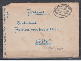 Dt.Reich II.WK Feldpostbrief Bahnpost-o Singen-Beuren-Büßlingen Z.1872 20.8.43 An Empfänger Mit FP-Nummer - Germania