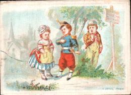 CALENDRIER GRANDS MAGASINS DU COIN DE RUE 8 RUE DE MONTESQUEIU LES 6 PREMIERS MOIS DE L'AN 1869 - Calendars