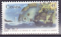 Timbre-poste Gommé Neuf**- Le Voyage De Cabot Cabot's Voyage, 1497 - N° 1519 (Yvert) - Canada 1997 - 1952-.... Règne D'Elizabeth II