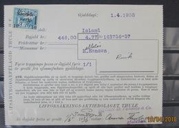 ICELAND 1935 GREIDSLUMERKI Used On Document - 1918-1944 Administration Autonome