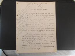 LE CROTOY SOMME COLONEL DELMEE VILLA NOTRE DAME 6 RUE PIERRE GUERLAIN COURRIER DU 3 JANVIER 1948 - Manuscripts