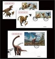 CHINA (2017-11) Dinosaur. FDC - Unused Stamps