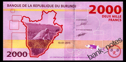 BURUNDI 2000 FRANCS 2015 Pick 52 Unc - Burundi