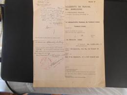 ARBEITSUNFALL-ANMELDUNG PERSONNEL OCCUPE PAR L'ADMINISTRATION ALLEMANDE MODELE B ET C 30 MARS 1942 VERMAND PERONNE - Documents Historiques