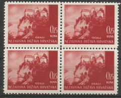 HR 1941-47 DEFINITIVE, CROATIA HRVATSKA, 4 X 1v, MNH - Kroatien