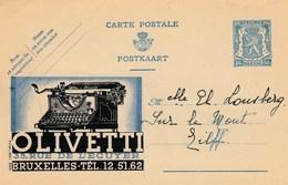BELGIE / BELGIQUE / CARTE PUBLICITAIRE  /  OLIVETTI - Publicité