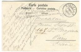 Griffe Bilingue Affranchissement Au Verso / Frankatur Siehe Rückseite Rigi-Kulm AK 1906 - 1882-1906 Armarios, Helvetia De Pie & UPU