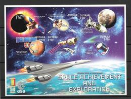 Guyana Feuillet Satellites Concorde Non Dentelé/imperf/ND Espace ** - Space