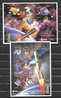 Guyana 2 Feuillets Satellites Non Dentelé/imperf/ND Espace ** - Space
