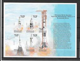 Guinée Guinea Feuillet Fusées Non Dentelé/imperf/ND Espace ** - Space