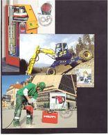 Liechtenstein 2007: Kombihammer, Bagger & Heizfläche Zu 1397-99 Mi 1454-56 Auf MK 273 (Zu CHF 15.50) - Usines & Industries