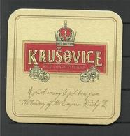 Tshechien Czech Bierdeckel KRUŠOVICE - Beer Mats